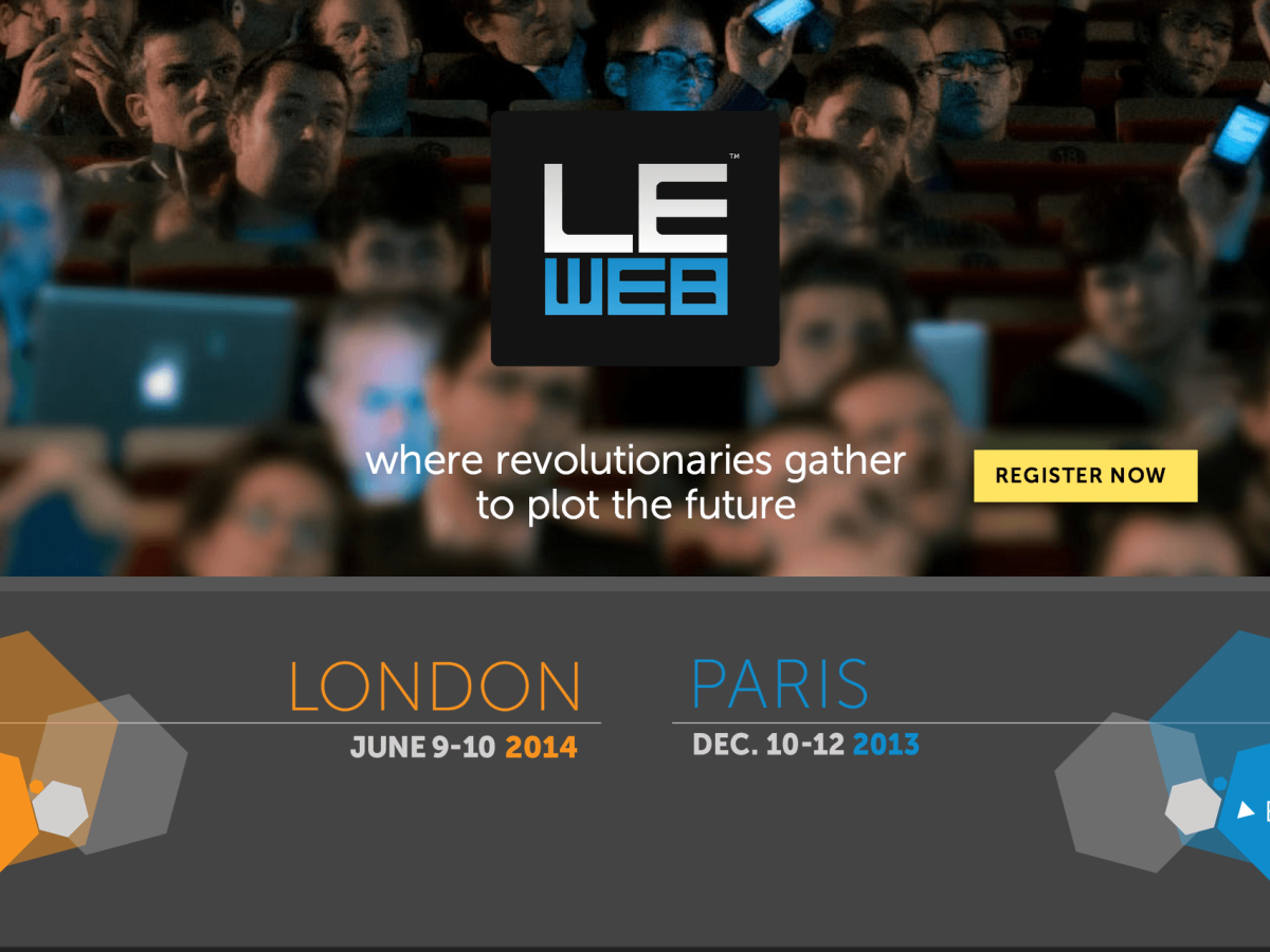 LeWeb   where revolutionaries gather to plot the future