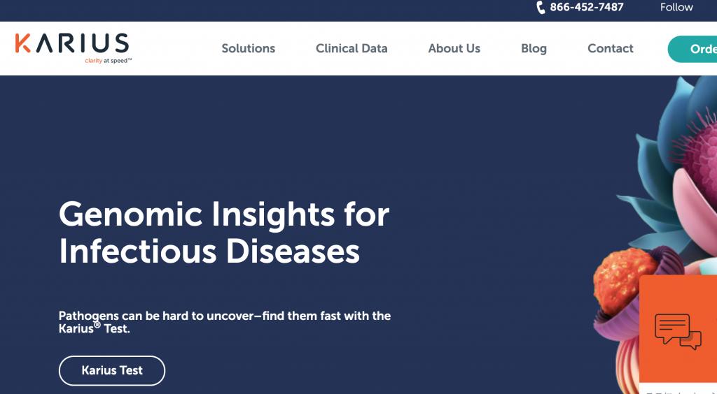 感染症の早期発見を目指すKarius、ビジョンファンド等から1億6500万ドル調達