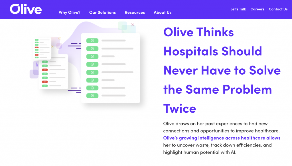 olive helps hospitals
